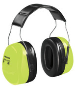 3M Optime 105 Earmuffs, 30 dB NRR, Hi-Viz Green, Over the Head, 1/EA, #7100008764