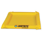 Justrite Maintenance Spill Containment Berms, Yellow, 135 gal, 11 ft x 10 ft, 1/EA, #28424