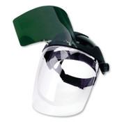 Sellstrom DP4™ Series Ratchet Faceshield Assy, AF/Clear 9 in x 12.125 in, Shade 8 IR Visor, 1/EA, #S32182