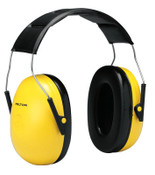 3M Optime 98 Earmuffs, 25 dB NRR, Yellow, Over the Head, 1/EA, #7000009670