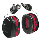 3M Optime 105 Earmuffs, 27 dB NRR, Black/Red, Cap Attached, 1/EA, #7000002327