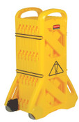 Newell Rubbermaid™ Mobile Barriers, 40 in x 13 ft, Plastic, Yellow, 1/EA, #9S1100YEL