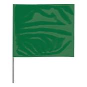 Presco Stake Flags, 2 in x 3 in, 21 in Height, PVC Film, Green, 100/BDL, #2321G