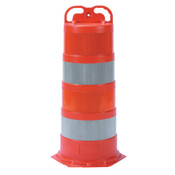 "Cortina Grip N Go Channelizer Cones, 42 in, 4-4"" Engineer Grade, Polyethylene, Orange, 1/EA, #037506EGG"