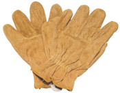 Anchor Products Split Cowhide Leather Driver Gloves, Large, Unlined, Russet, 1/PR, #Q16