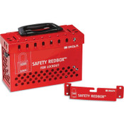 Brady WALL-MOUNTABLE LOCKBOX W/ QUICK REL. RED, 1/EA, #145579