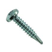 """#10-16x3/4"""" F/T Phillips Pan Head, #3 Point Self Drilling Screws Zinc Cr+3 (100/Pkg.)"""