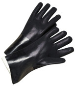 Anchor Products PVC-Coated Jersey-Lined Gloves, Men's, Black, 12 Pair, #J1027RF