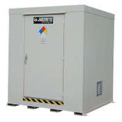 Justrite Non-Combustible Outdoor Safety Locker-Natural Draft Ventilation, (9) 55gal drums, 1/EA, #911090