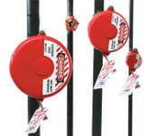 Brady Gate Valve Lockouts, 1 in - 2 1/2 in Handle Size, Red, 1/EA, #65560