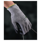 Ansell HyFlex 11-435 Cut-Resistant Gloves, Size 8, Black; Heather Gray, 12 Pair, #111050