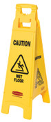 Newell Rubbermaid™ Floor Safety Signs, Caution Wet Floor, Yellow, 37X12, 1/EA, #611477YEL