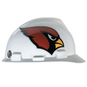 MSA Officially-Licensed NFL V-Gard Helmets, 1-Touch, Arizona Cardinals Logo, 1/EA, #818384