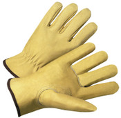 Anchor Products 4900 Series Standard Grain Pigskin Driver Gloves, Large, Unlined, Tan, 12/DOZ, #994L