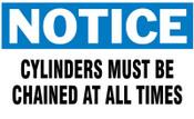 Brady Gas Cylinder Lockout Labels, Notice Chain, 5 in W x 3 in H, White/Blue, 10/PKG, #60314
