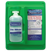 First Aid Only Wall Mountable Eyewash Stations, Single 32 oz. Bottle, 6 per case, 6/CA, #90501001