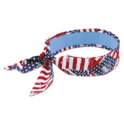 Ergodyne Chill-Its 6700 Evaporative Cooling Bandanas, 8 in X 13 in, Stars/Stripes, 1/EA, #12303