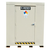 Justrite 2-Hour Fire-Rated Outdoor Safety Locker, Explosion Relief, (16) 55-gallon drums, 1/EA, #912161
