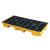 Brady SPC Spill Containment Decks, Blue/Yellow, 2,500 lb, 21 gal, 52 in x 26 in, 1/EA, #SCSD2