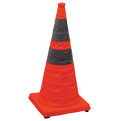 Cortina Pack and Pop Collapsible Safety Cone, 12 x 12 x 28, Orange, Nylon, 1/PK, #350103