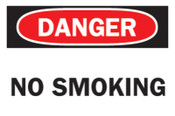 Brady Health & Safety Signs, Danger - No Smoking, 7X10 Fiberglass, 1/EA, #47171