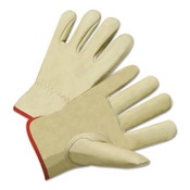 Anchor Products 4015 Series Standard Grain Cowhide Leather Driver Gloves, Medium, Unlined, Tan, 12/DZ, #990kbm