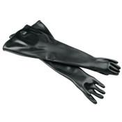 Honeywell Neoprene Glovebox Gauntlet Gloves, Black, Smooth, Size 11 1/2, 1/PR, #8N303211H