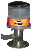 Aervoe Industries Solar Powered Strobe, w/Bracket, Red, 4/CA, #1197