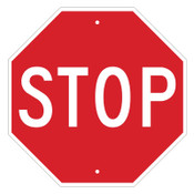 Brady STOP Signs, 18w x 18h, White on Red, 1/EA, #113280