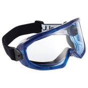 Bolle SUPERBLAST Safety Goggles, One Size, Clear, Blue Frame, Anti-Fog/Scratch Resistant, 10/BX, #40295