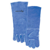 Anchor Products Quality Welding Gloves, Split Cowhide, Large, Blue, Right Hand, 12/PK, #42ALRHO