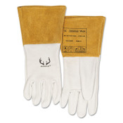 Best Welds DEERSOsoft Grain Deerskin Welding Gloves, Medium, Pearl, 1/PR, #102304M
