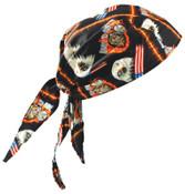 OccuNomix Tuff Nougies Deluxe Tie Hats, One Size, Motorcycle, 1/EA, #TN6MOT