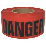 Intertape Polymer Group Barricade Tape, 3 in x 300 ft, Red, Danger, 16/CS, #600RD300
