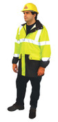 OccuNomix Breathable Foul Weather Coats, Large, Yellow, 1/EA, #LUXTJRYL