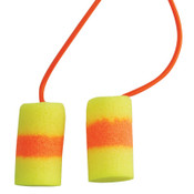 3M E-A-R Classic SuperFit 33 Foam Earplugs 311-1125, PVC, Red/Yellow, Corded, 200/BX, #7000127172