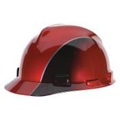 MSA Specialty V-Gard Protective Caps, 4 Point, Cap, Black/Red, 1/EA, #10101535