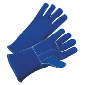 Best Welds 7344 Leather Welding Gloves, Leather, Large, Blue, 12/DZ, #3030