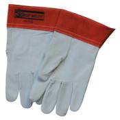 Best Welds 10-TIG Capeskin Welding Gloves, Medium, White/Red, 1/PR, #10TIGM