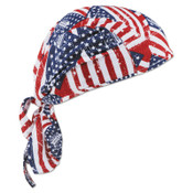 Ergodyne Chill-Its 6615 High-Performance Dew Rags, 6 in X 20 in, Stars/Stripes, 1/EA, #12477