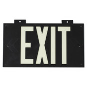 Brady Glo High Performance Glow-In-The-Dark Exit Signs, Black, Single Face, 1/EA, #38097B