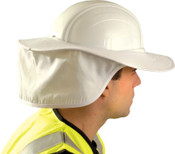 OccuNomix Hard Hat Shades, White, For Most Regular Hard Hats (Not Full Brim), 1/EA, #898008