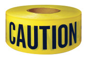 Intertape Polymer Group Barricade Tape, 3 in x 300 ft, Yellow, Caution, 1/ROL, #600CC300