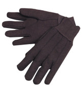 Anchor Products Jersey Gloves, Men's, 100% Cotton w/Fleece Lining, Brown/Red, 12/DOZ, #755c