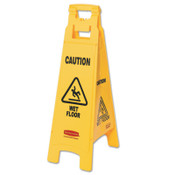 Newell Rubbermaid™ Floor Safety Signs, Caution Wet Floor, Yellow, 25X11, 1/EA, #611277YEL