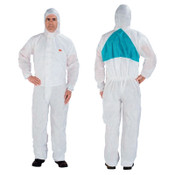 3M Disposable Protective Coverall 4520 Series, Teal/White, Large, 25/CA, #7000088986