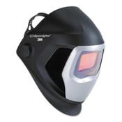 3M Speedglas 9100 Series Helmets, 8-13; Black and Silver, w/side window, 4.2 x 2.1, 1/EA, #7010340591