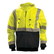 OccuNomix Medium Hi-Viz Yellow 100% ANSI Polyester/Fleece Black Bottom Sweatshirt, 1/EA, #LUXSWTHZBKYM