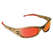 3M Fuel Safety Eyewear, Red Mirror Lens, Anti-Fog, HC, Metallic Sand Frame, Nylon, 1/EA, #7000029996