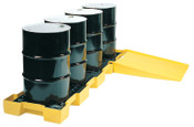 Eagle Mfg Spill Containment Platforms, Yellow, 10,000 lb, 60.5 gal, 30 1/4 in x 103 1/2 in, 1/EA, #1647